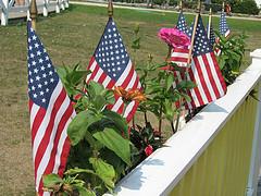 американском флаге